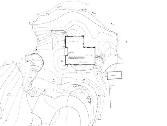 Project C: Base Map of existing house and landscape